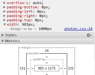 Érdekes jelenség a Chrome Element Inspectorban