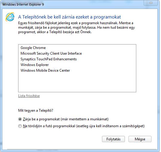 Internet Explorer 9 install