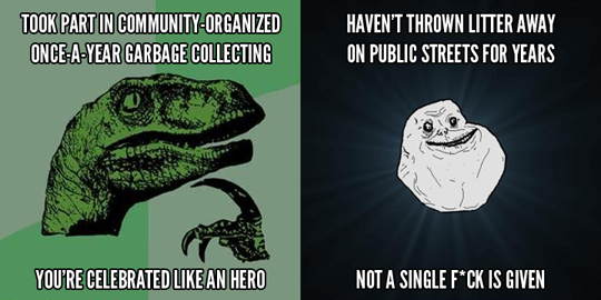 Philosoraptor meets Forever Alone Guy