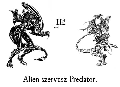 Alien szervusz Predator