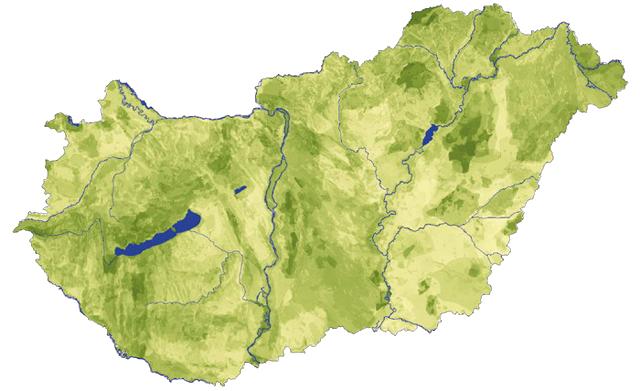 Magyarország domborzati térképe