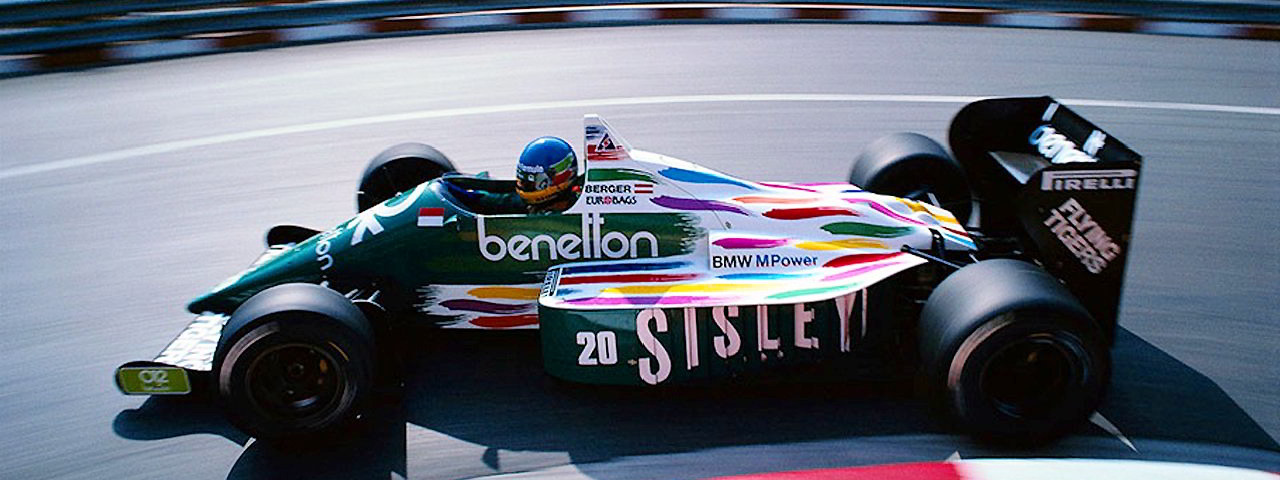 Gerhard Berger, Benetton B186, Monaco, 1986