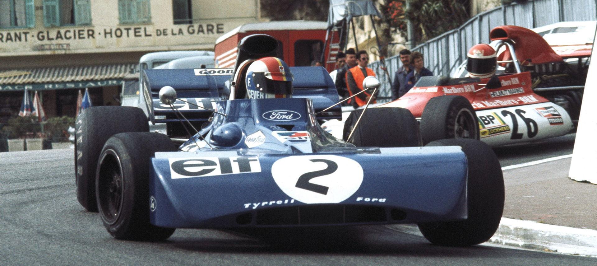 Francois Cevert, Helmut Marko, Monaco, 1972