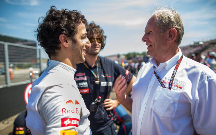 Helmut Marko, Daniel Ricciardo, 2013